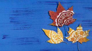 Pintar mandalas en hojas secas (muy fácil)