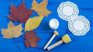 Pintar mandalas en hojas secas (muy fácil) - Paso 1
