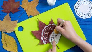 Pintar mandalas en hojas secas (muy fácil) - Paso 2