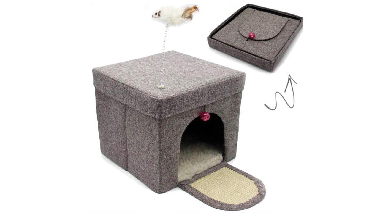 Casa-cueva plegable para gato