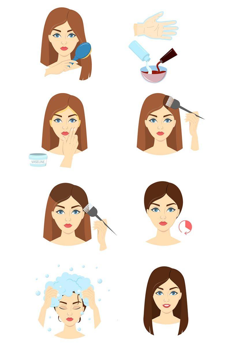 pasos para teñir el pelo en casa