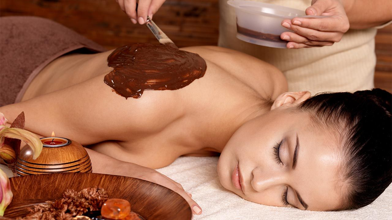 Envoltura corporal de chocolate casera