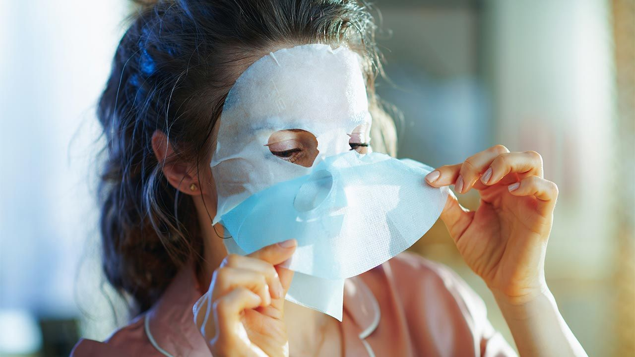 Mascarillas faciales tissue - aplicacion