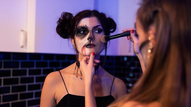 maquillaje duradero de Halloween