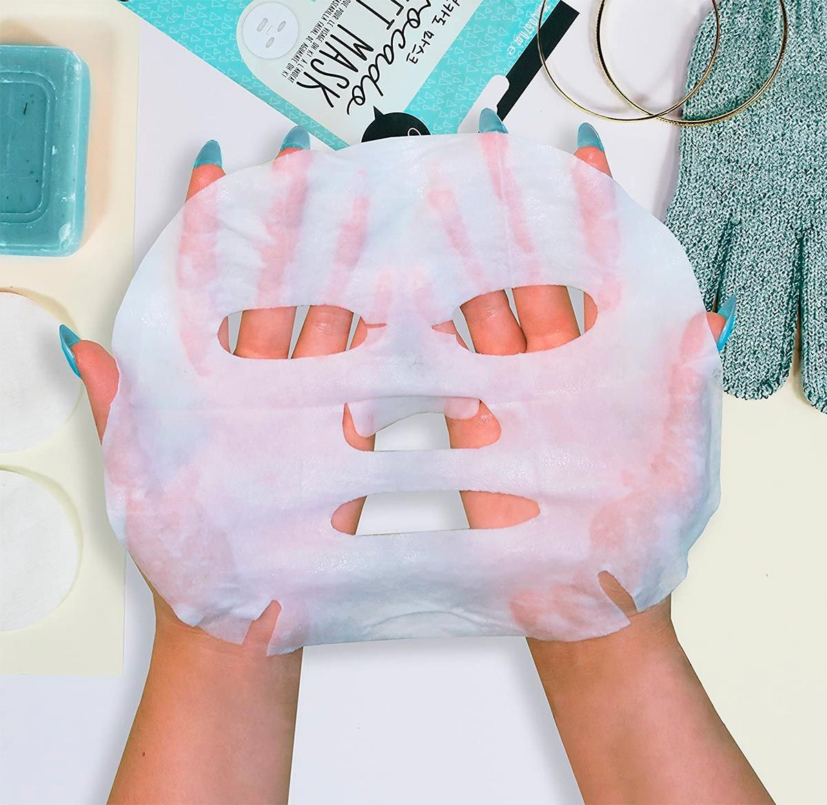 mascarilla facial tissue de aguacate