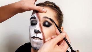 cómo hacer el maquillaje de caperucita y el lobo - paso 10