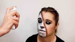 cómo hacer maquillaje de caperucita y el lobo - resultado