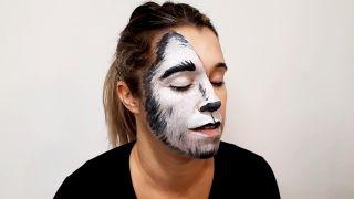 cómo hacer el maquillaje de caperucita y el lobo - paso 4