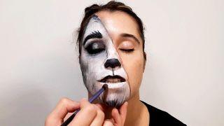 cómo hacer el maquillaje de caperucita y el lobo - paso 6