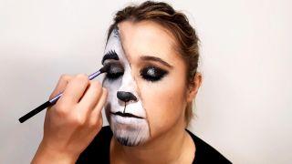 cómo hacer el maquillaje de caperucita y el lobo - paso 8
