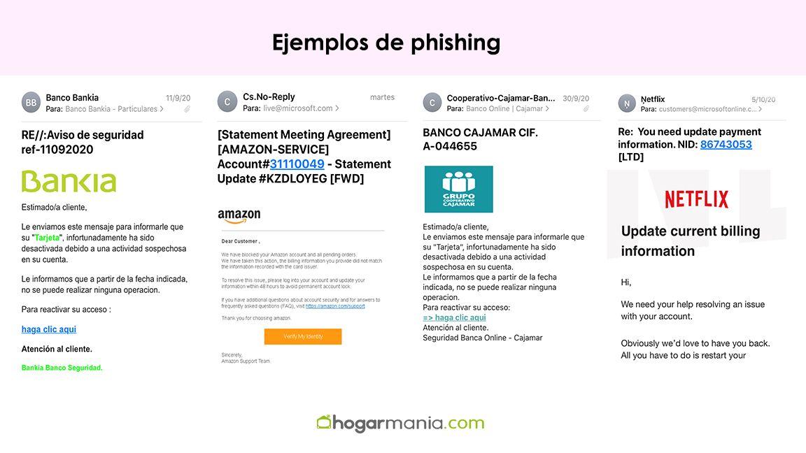 ejemplos de phishing