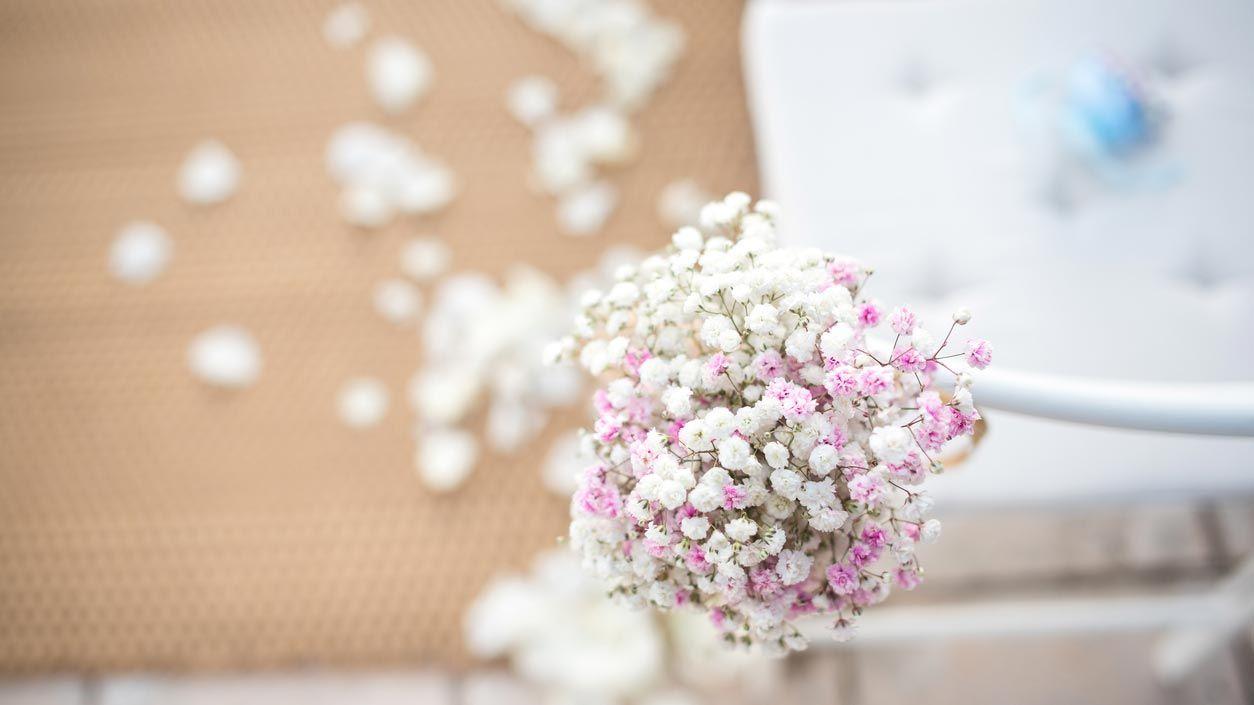 Adornos florales en bodas, bautizos y comuniones