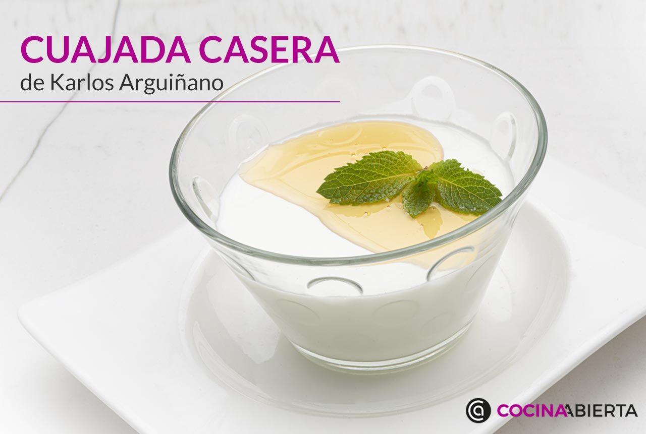 Cómo hacer cuajada casera con miel, receta de Karlos Arguiñano al estilo tradicional
