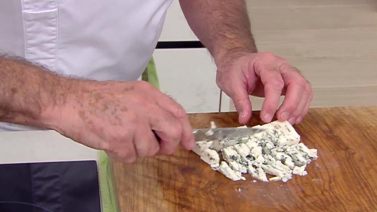 Risotto de verduras con queso azul
