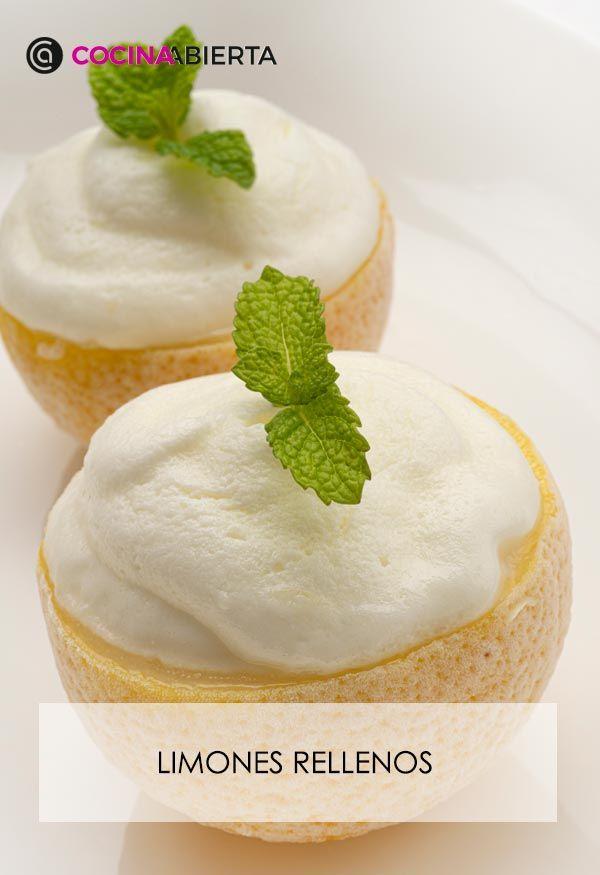 Limones rellenos de yogur y zumo