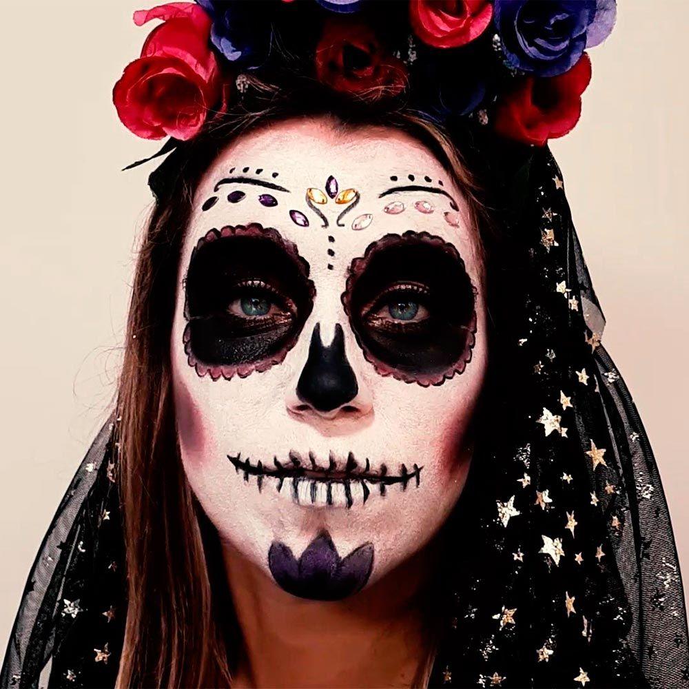 maquillaje de La Catrina o calavera mexicana