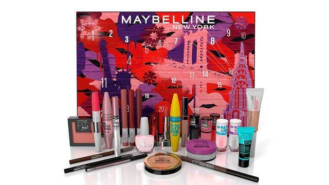 Calendarios de adviento 2020 con productos de belleza - maquillaje de Maybelline