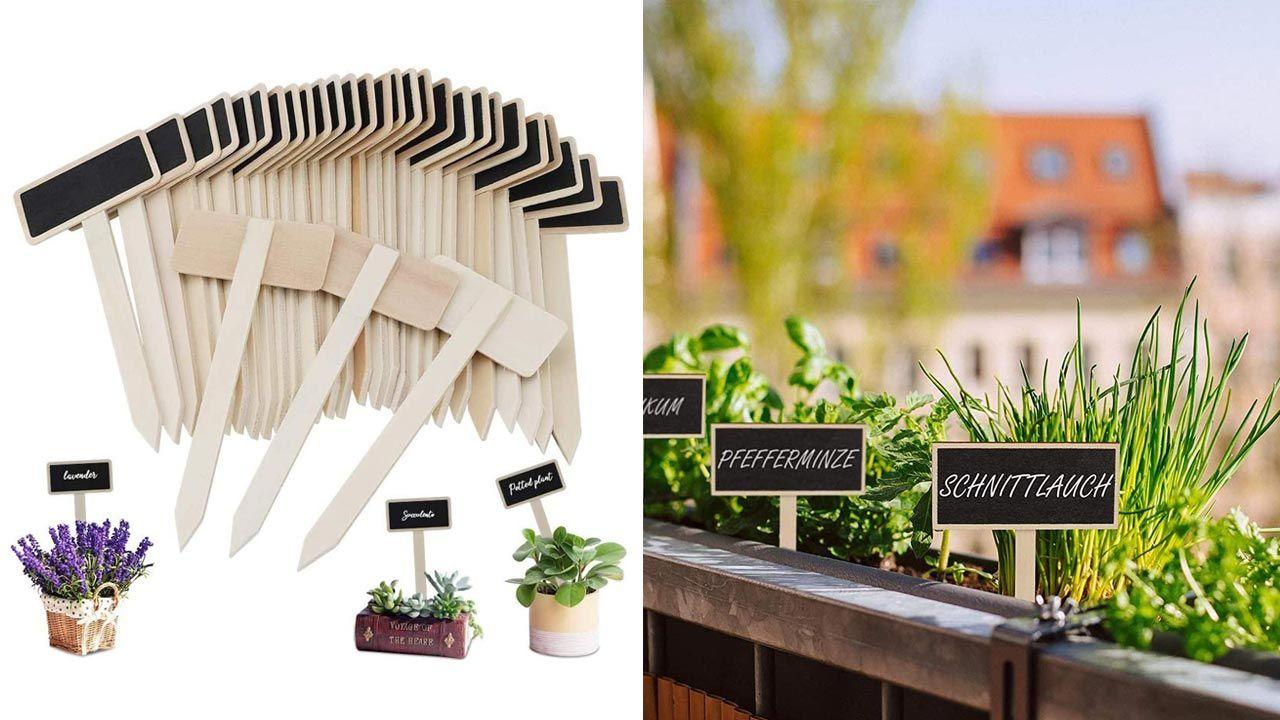 Etiquetas para las plantas del huerto urbano