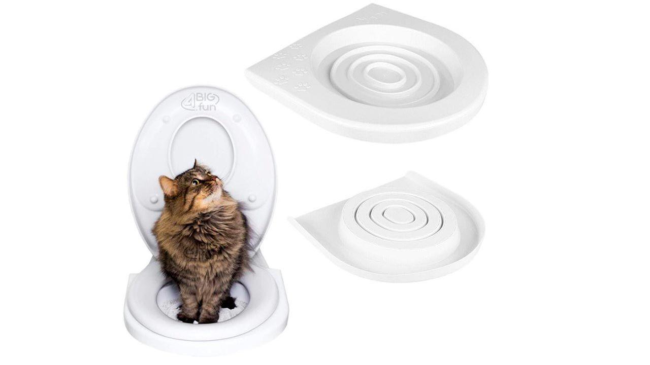 Adaptador de inodoro para entrenar gato