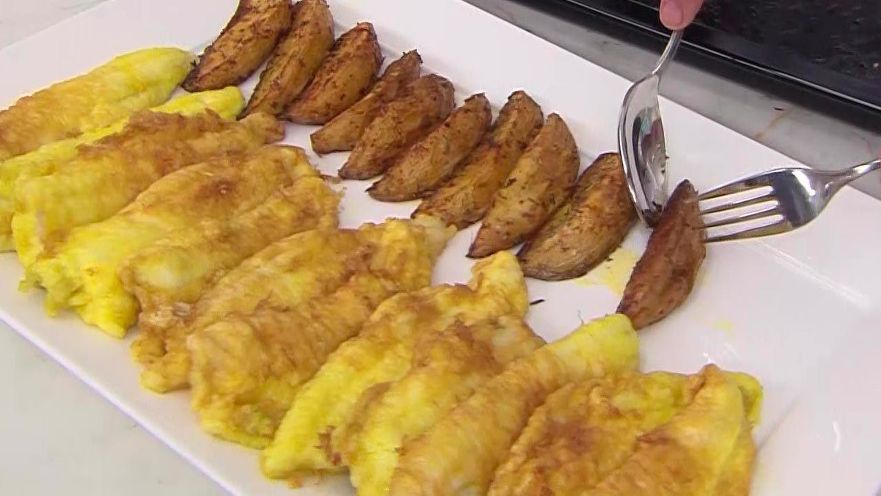 Filetes de gallo con patatas deluxe