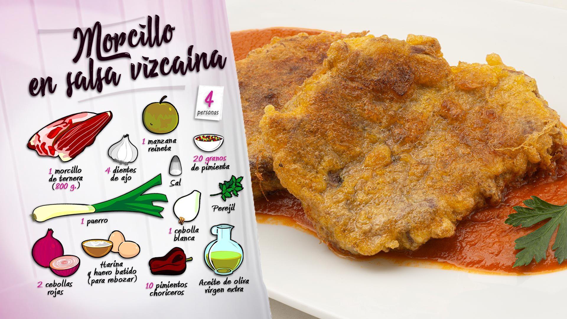 Morcillo (o zancarrón) en salsa vizcaína