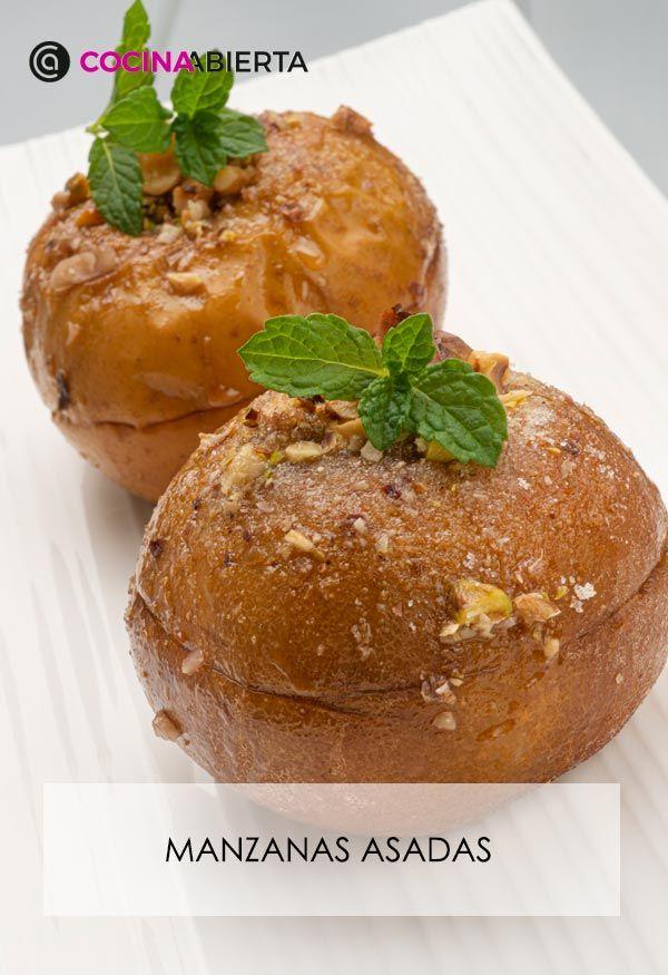 Manzanas asadas rellenas de frutos secos