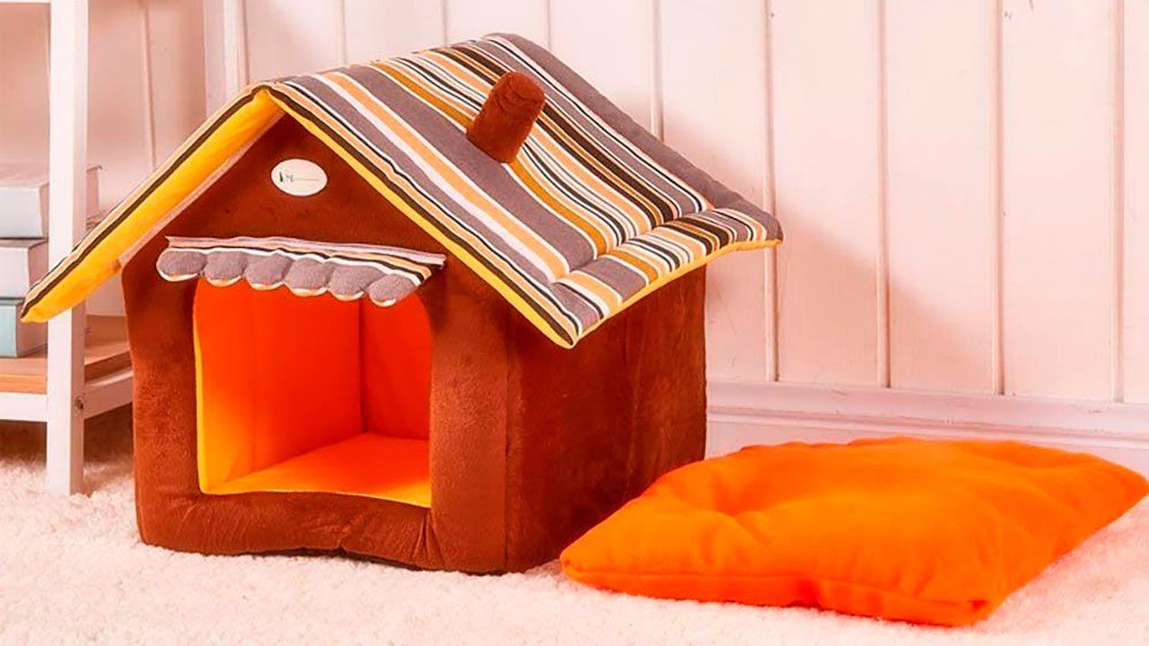 Iglú con forma de casa para mascota
