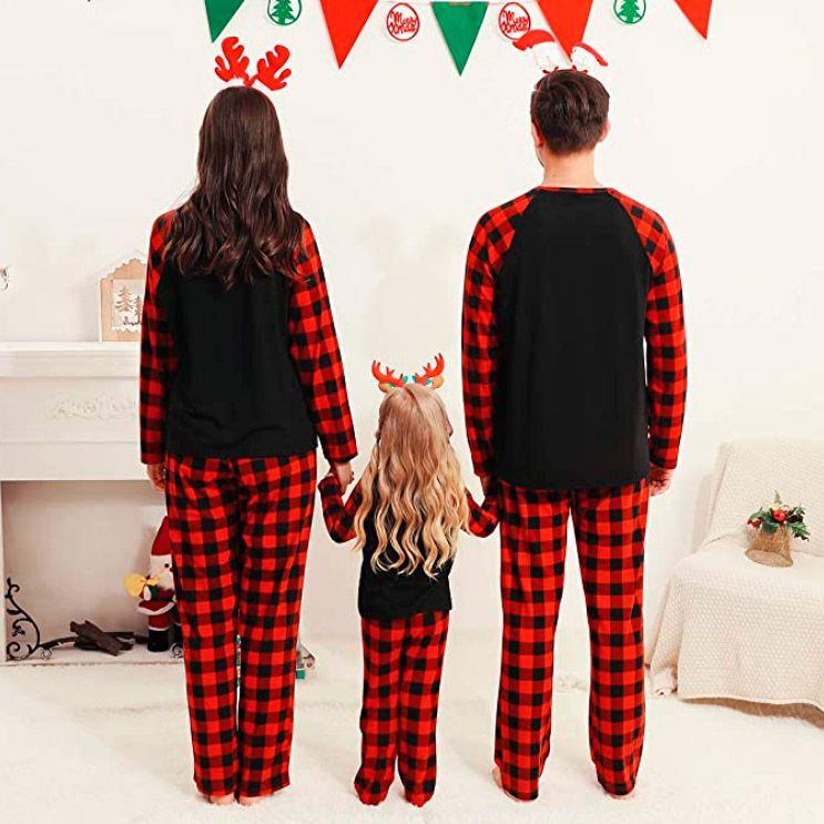 pijamas de navidad para la familia - Cuadros escoceses