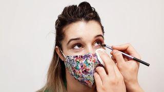 maquillaje de ojos para mascarillas - paso 2