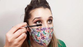 maquillaje de ojos para mascarillas - paso 3