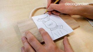 Cómo hacer un adorno navideño de madera para colgar - Paso 1
