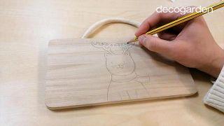 Cómo hacer un adorno navideño de madera para colgar - Paso 2