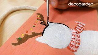 Cómo hacer un adorno navideño de madera para colgar - Paso 6