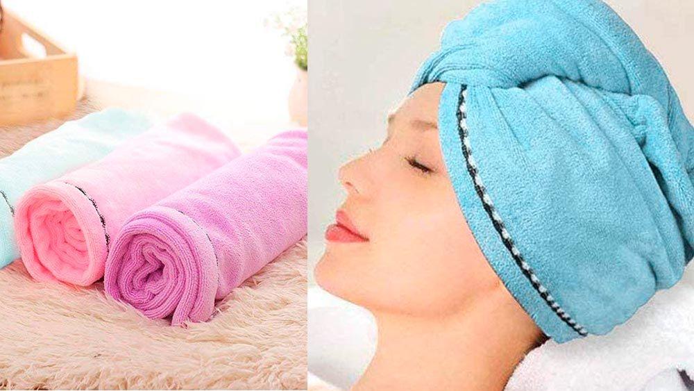 cuidados para que el cabello crezca más fuerte - toallas de microfibra