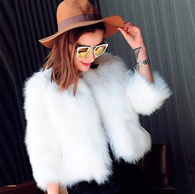 abrigo blanco para moda invierno