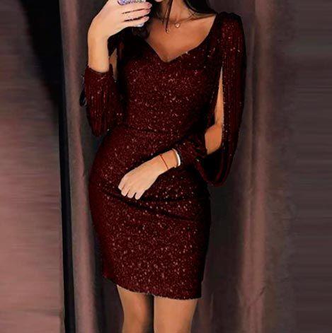 vestidos con brillos para Navidad