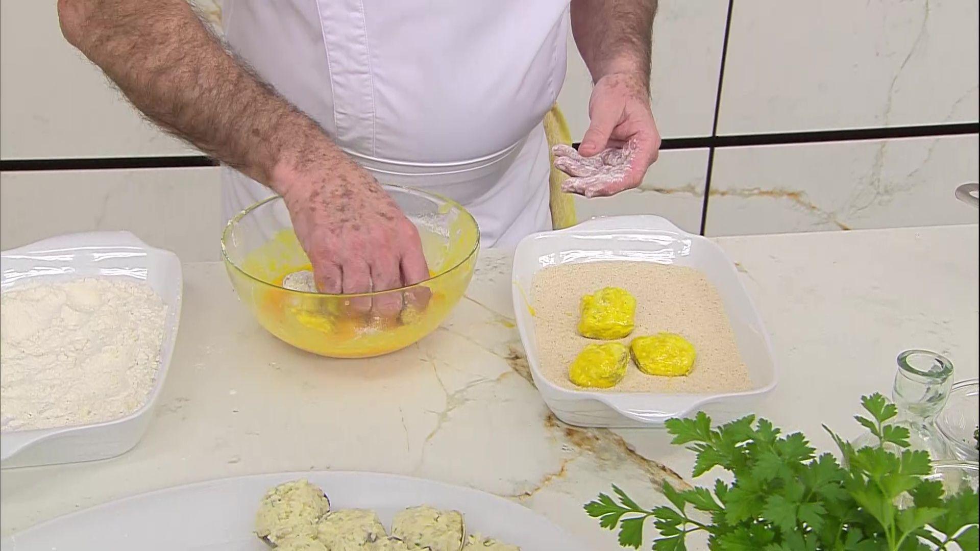 Almejas rellenas con ensalada