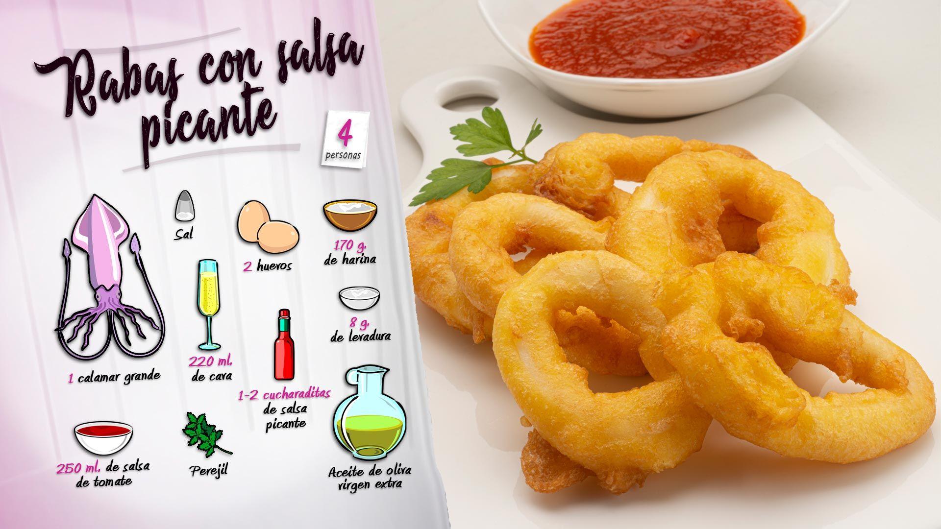 Rabas de calamar con salsa picante por Karlos Arguiñano - Ingredientes