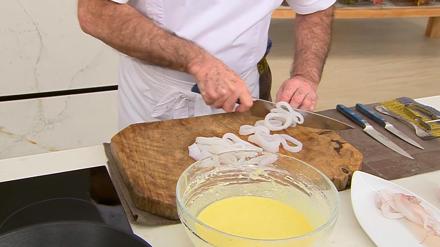 Rabas con salsa picante por Karlos Arguiñano - paso 2