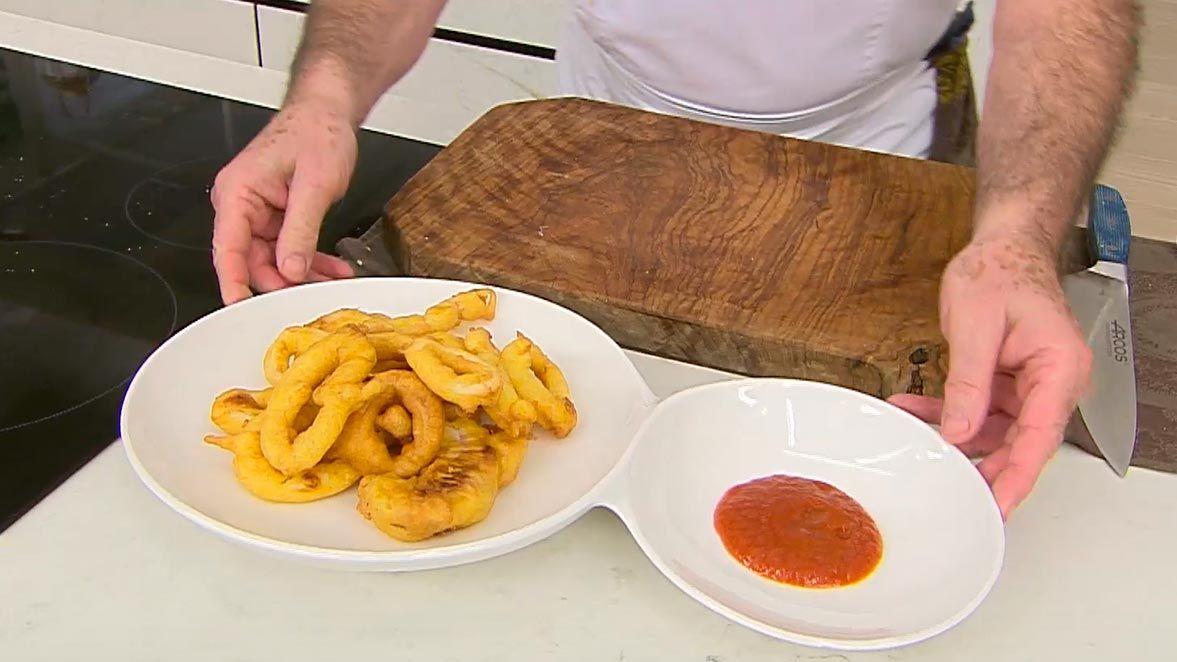 Rabas con salsa picante por Karlos Arguiñano - paso 4