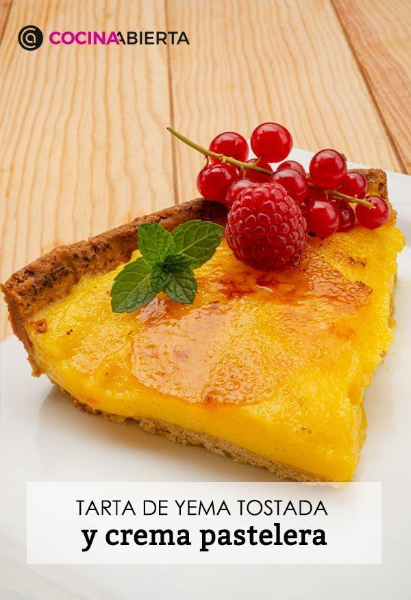 Receta de tarta de yema tostada y crema pastelera de Eva Arguiñano - Presentación