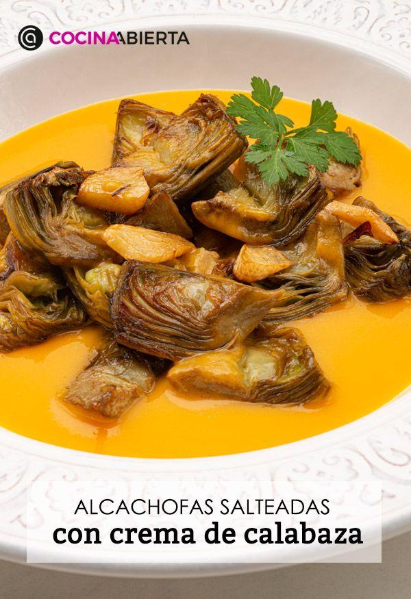 Alcachofas salteadas con crema de calabaza, la receta de Karlos Arguiñano - Presentación