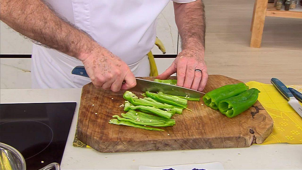 Receta de lubina a la pimienta verde por Karlos Arguiñano - paso 1