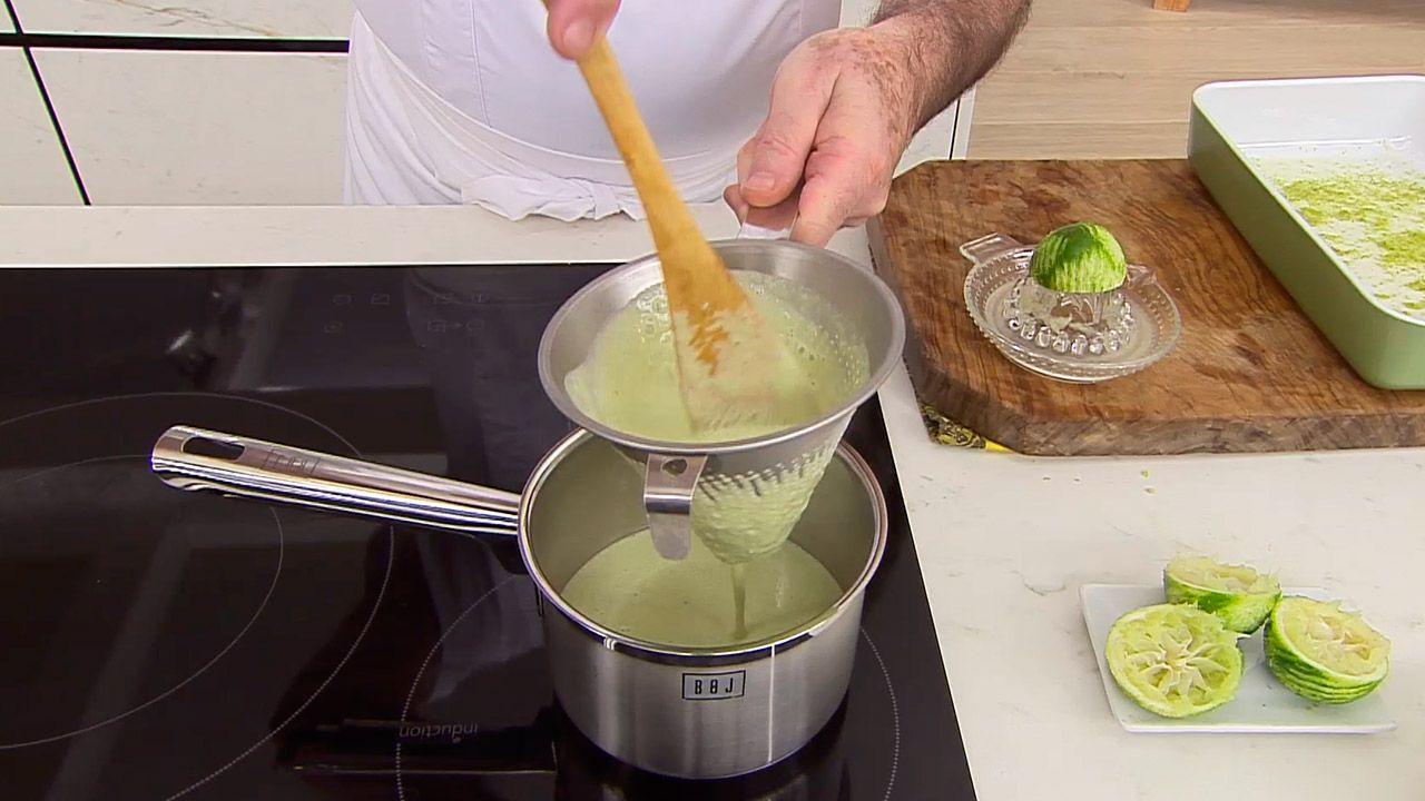 Receta de lubina a la pimienta verde por Karlos Arguiñano - paso 2