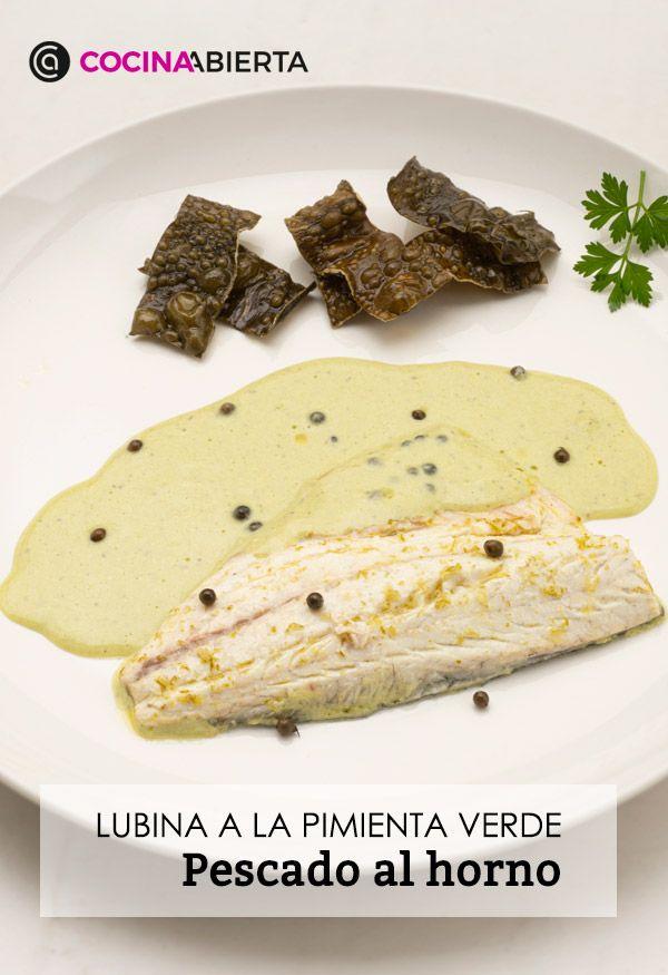 Lubina a la pimienta verde, una receta de pescado al horno por Karlos Arguiñano - Presentación
