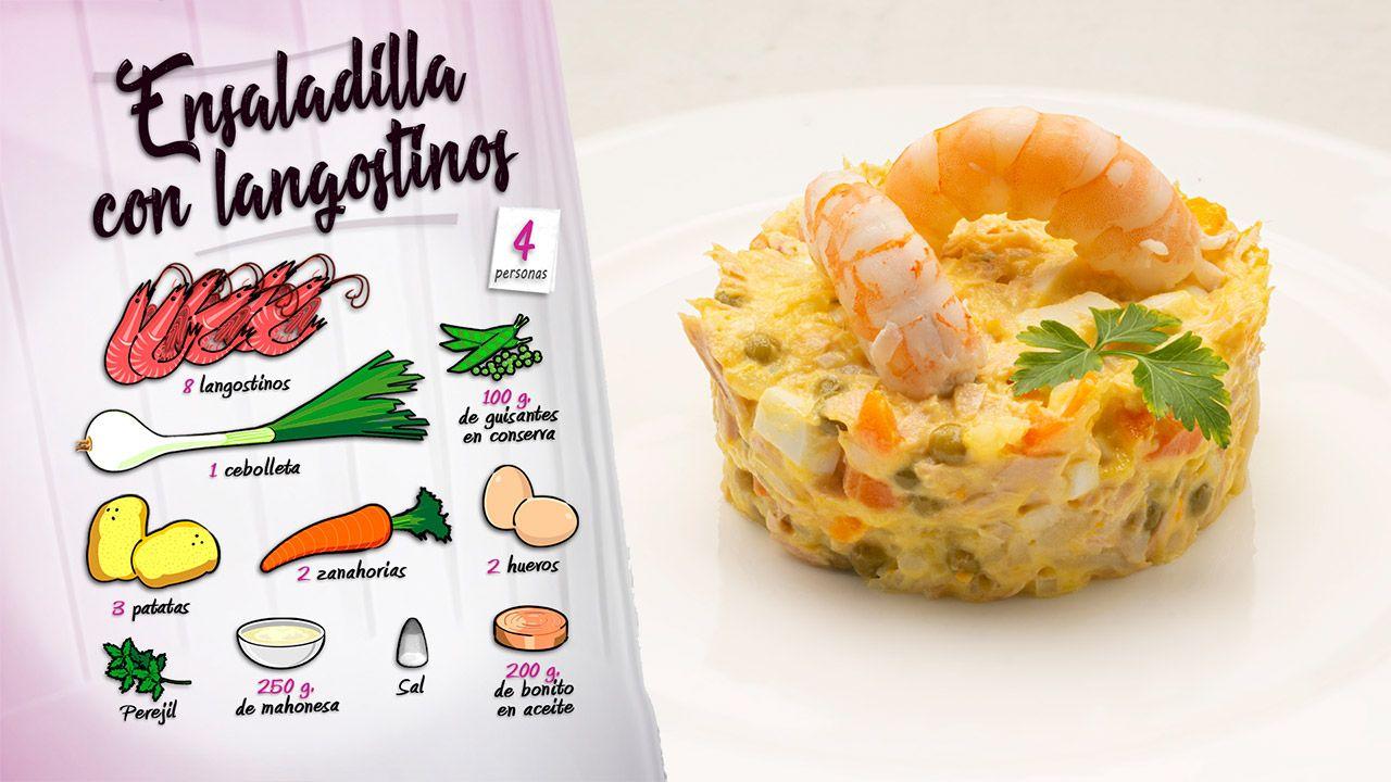 Receta de ensaladilla con langostinos de Karlos Arguiñano - Ingredientes