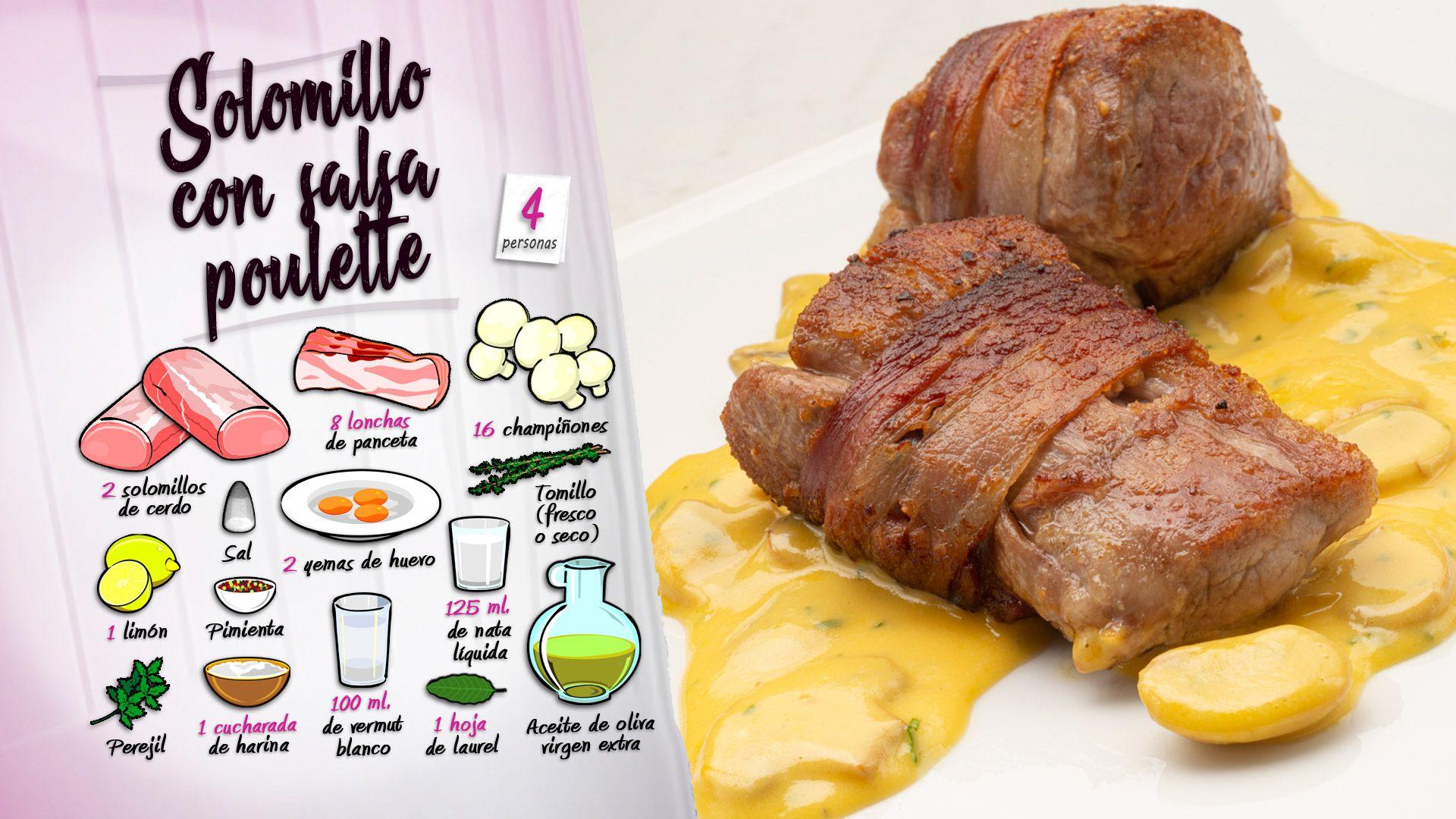 Solomillo de cerdo con salsa poulette por Karlos Arguiñano - Ingredientes