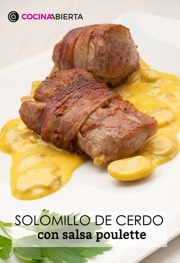 Solomillo con salsa poulette - Presentación