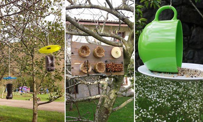 Comederos de pájaros para el jardín
