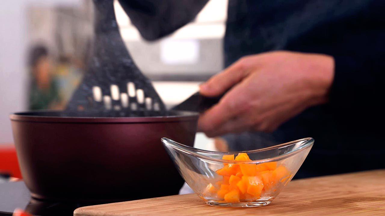 Paso 3 de la receta Ensalada templada de arroz con lentejas